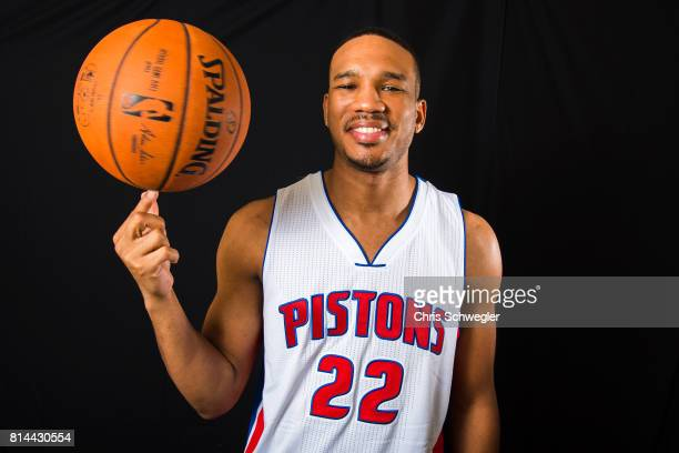 Detroit Pistons Avery Bradley poses for a portrait on July 13 2017 at the Detroit Pistons Practice Facility in Auburn Hills Michigan NOTE TO USER...