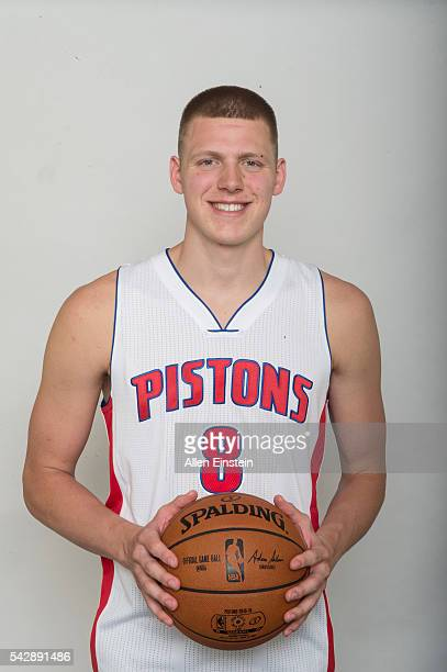 Detroit Pistons introduce 2016 Draft Pick Henry Ellenson at a press conference on June 24 2016 at the Palace of Auburn Hills in Auburn Hills Michigan...
