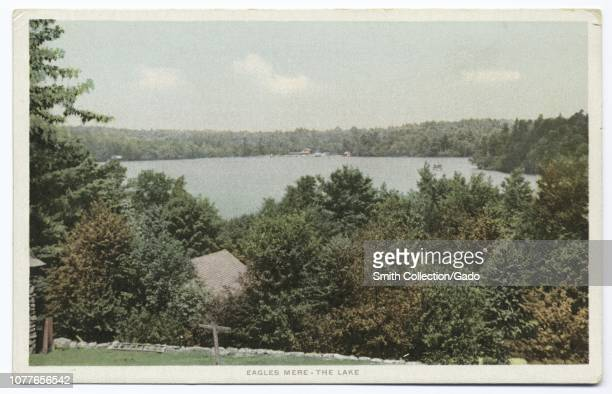 Detroit Publishing Company vintage postcard reproduction of the Lewis Lake, Eagles Mere, Sullivan County, Pennsylvania, 1914. From the New York...