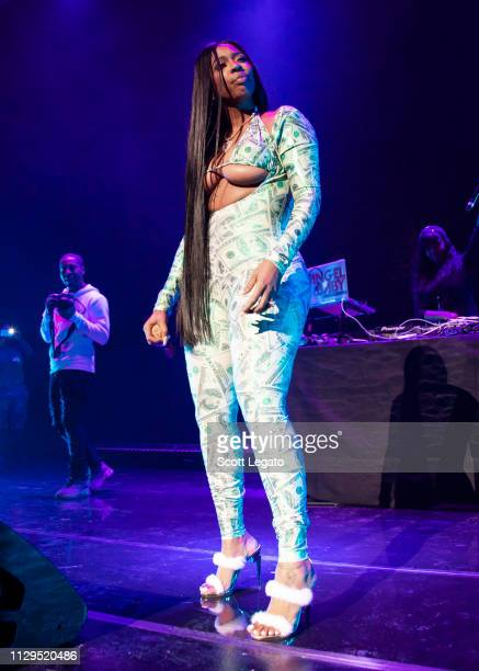 Detroit rapper Kash Doll performs in support of The Motivation Tour at Fox Theatre on March 09 2019 in Detroit Michigan