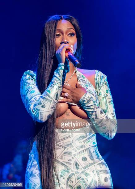 Detroit rapper Kash Doll performs in support of The Motivation Tour at Fox Theatre on March 09, 2019 in Detroit, Michigan.