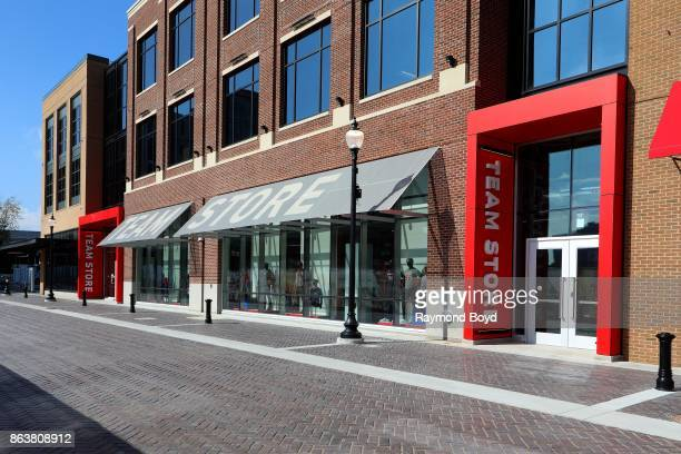 Detroit Red Wings and Detroit Pistons team store at Little Caesars Arena home of the Detroit Red Wings hockey team and Detroit Pistons basketball...
