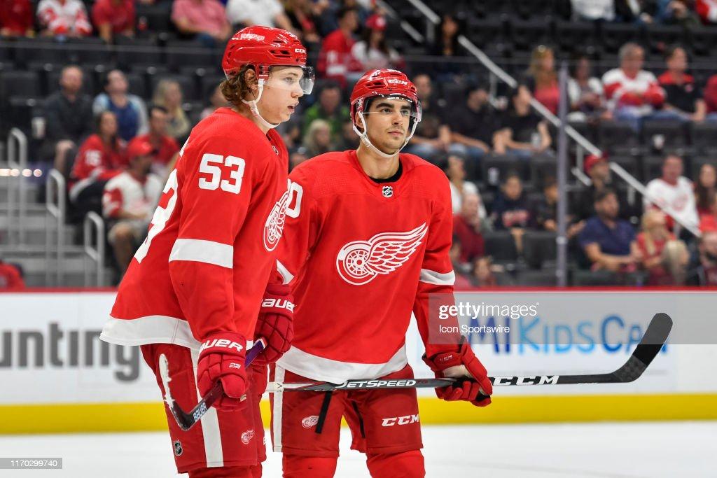 NHL: SEP 22 Preseason - Penguins at Red Wings : News Photo