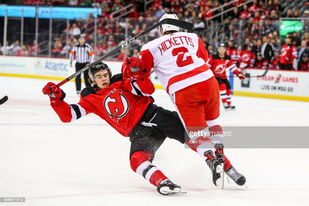 NHL: JAN 22 Red Wings at Devils : News Photo