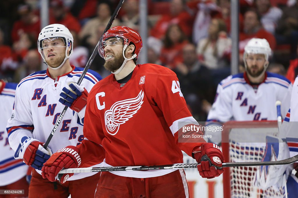 NHL: JAN 22 Rangers at Red Wings : News Photo