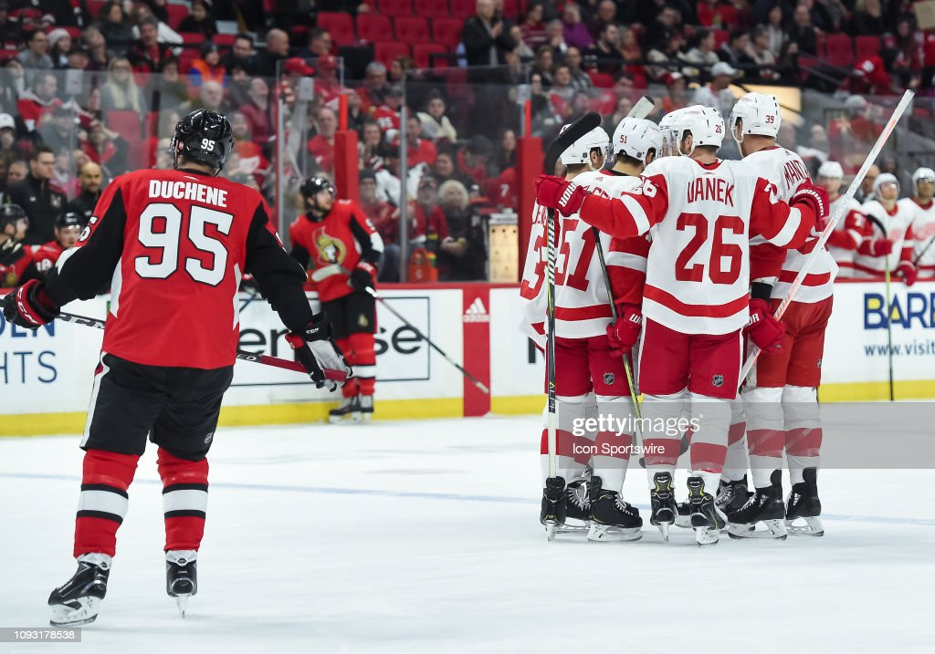 NHL: FEB 02 Red Wings at Senators : News Photo