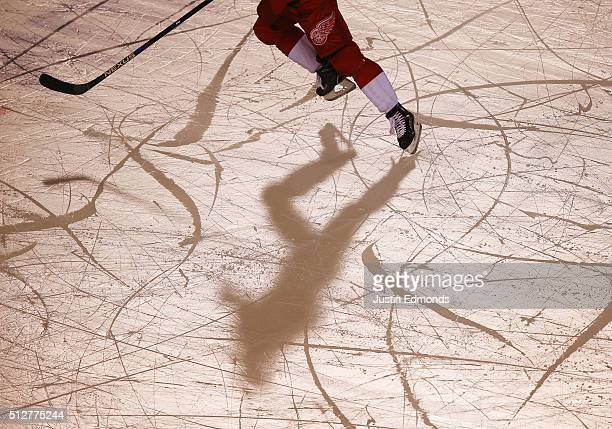 Detroit Red Wings player skates against the Colorado Avalanche at Coors Field during the 2016 Coors Light Stadium Series game on February 27 2016 in...