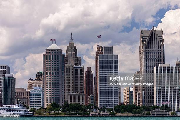 Detroit River & Skyline