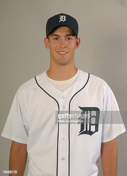 Detroit Tigers 2007 firstround draft pick Rick Porcello poses for a photo at Comerica Park in Detroit Michigan on August 24 2007