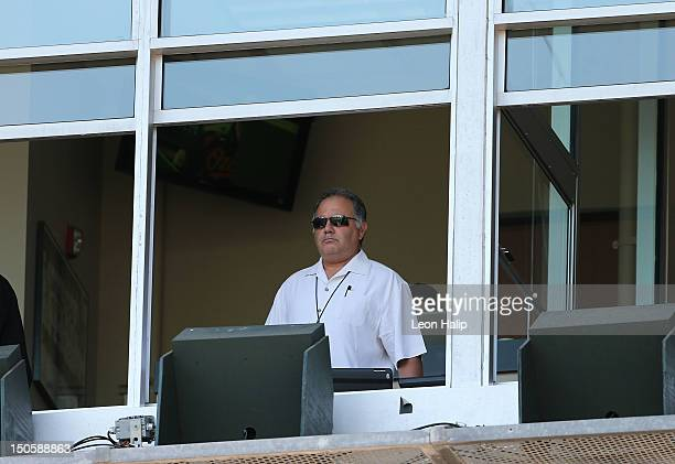 Detroit Tigers Assistant General Manager Al Avila watches the game between the Detroit Tigers and the Baltimore Orioles at Comerica Park on August...