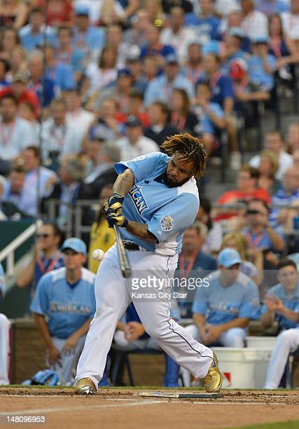 Detroit Tigers' Prince Fielder connected on a pitch for a homer during Monday's Home Run Derby competition on July 9 at Kauffman Stadium in Kansas...