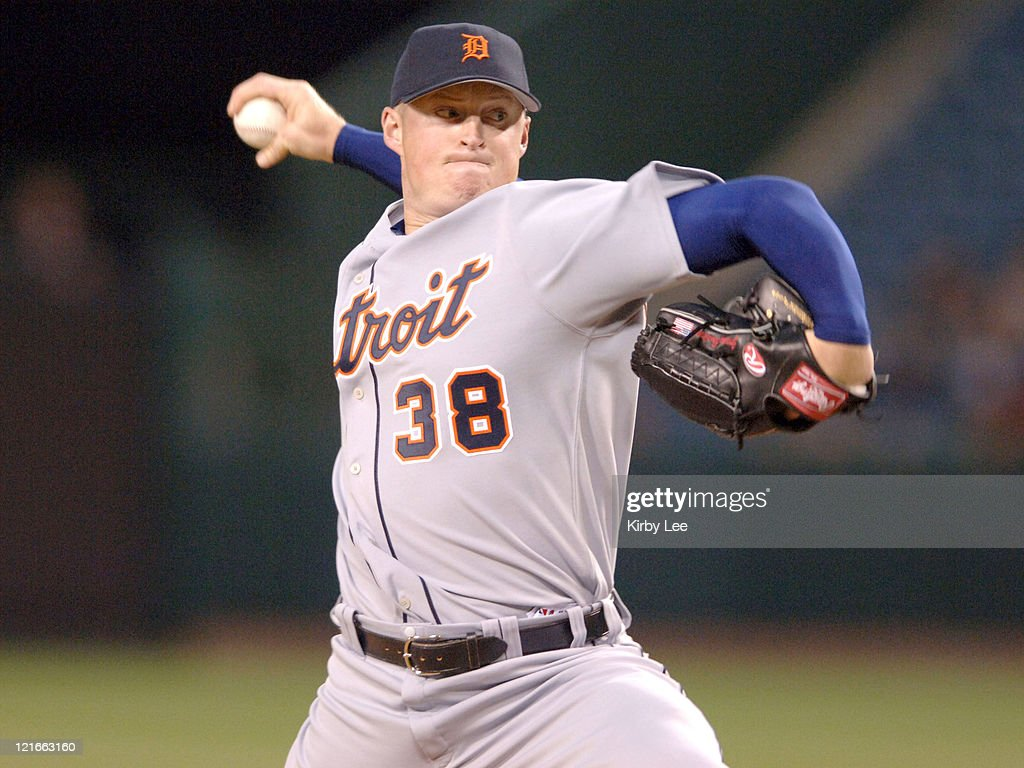 Detroit Tigers starter Jeremy Bonderman pitches during 5-2 victory over the Los Angeles Angels of Anaheim at Angel Stadium in Anaheim, Calif. on Tuesday, April 25, 2006. Bonderman (2-2) pitched six innings and allowed a season-best three hits and two earned runs in his 94th career start.