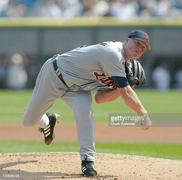 Detroit Tigers' Starting Pitcher Jeremy Bonderman pitches in the 1st inning of the game against the Chicago White Sox September4 2005 at US Cellular...