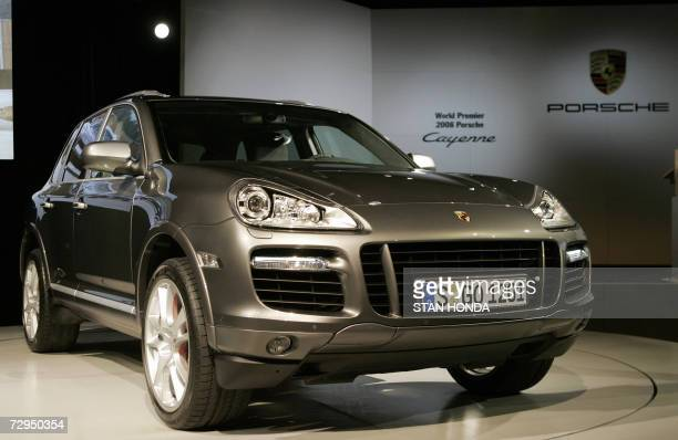 The 2008 Porsche Cayenne is introduced 08 January 2007 at the North American International Auto Show at Cobo Hall in Detroit Michigan AFP PHOTO/Stan...