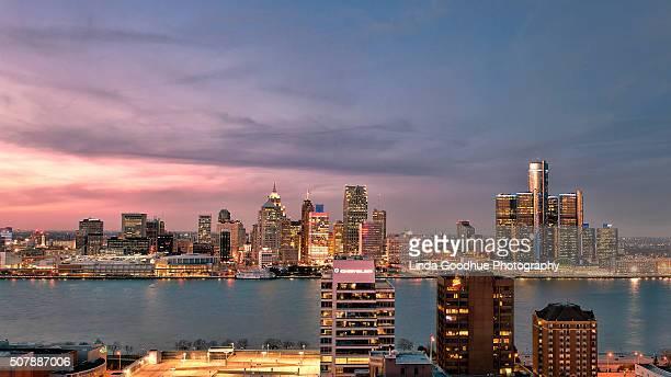 Detroit Windsor Cityscape