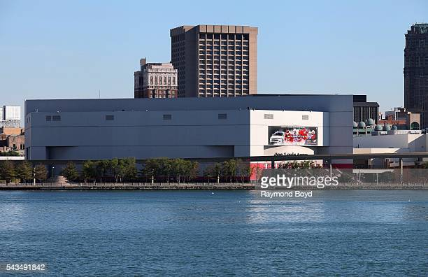 Detroit's Joe Louis Arena as photographed from the Windsor Riverfront on June 17 2016 in Windsor Ontario Canada