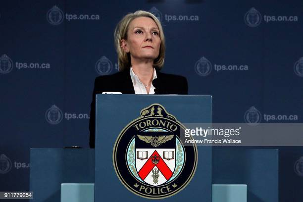 TORONTO ON JANUARY 26 DetSgt Susan Gomes during a press conference at Police Headquarters January 26 2018 Police provide an update on the suspicious...