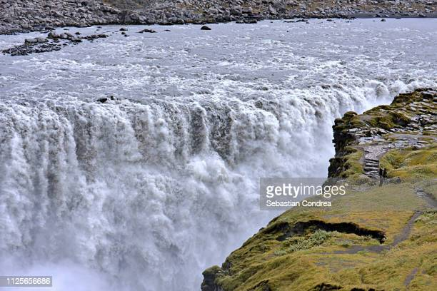 dettifos waterfall, discover northern europe, iceland - dettifoss waterfall stock photos and pictures