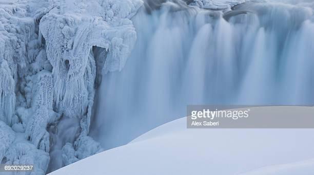 dettifoss waterfall in northern iceland. - alex saberi bildbanksfoton och bilder