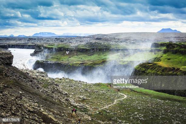 Dettifoss waterfall in Vatnajökull National Park in Northeast Iceland
