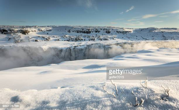 dettifoss waterfall - north iceland - dettifoss waterfall stock photos and pictures