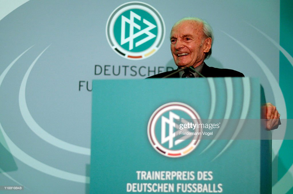 Dettmar Cramer receives the DFB honorary award at the hotel Wasserturm on March 17, 2011 in Cologne, Germany.