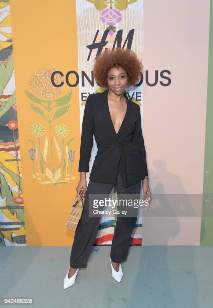 Deun Ivory attends the HM celebration of 2018 Conscious Exclusive collection at John Lautner's Harvey House on April 5 2018 in Los Angeles California