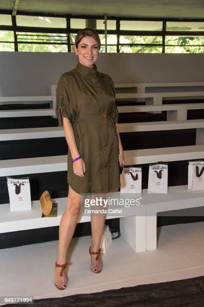 Deusa Constanzi attends at Agua de Coco Front Row at SPFW N45 Summer 2019 at Ibirapuera's Bienal Pavilion on April 21 2018 in Sao Paulo Brazil