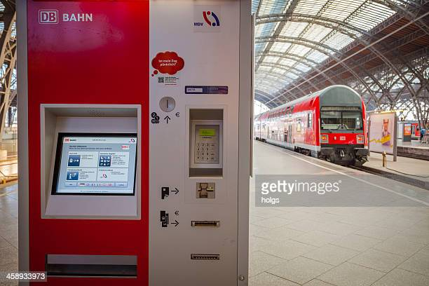 Deutsche bahn ticket vending machine, Leipzig, Germany