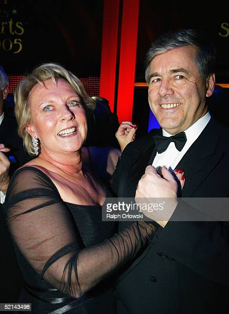 Deutsche Bank AG CEO Josef Ackermann and his wife Pirrko attend the Ball Des Sports Gala Evening at the Festhalle on February 4 2005 in Frankfurt...