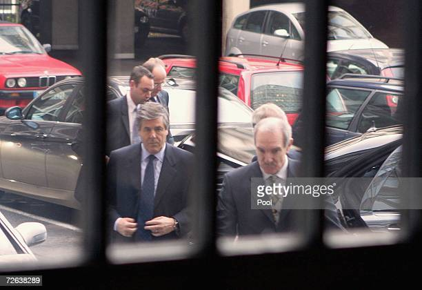 Deutsche Bank Chief Executive Josef Ackermann arrives for the Mannesmann retrial, on November 24, 2006 in Dusseldorf, Germany. The hearing of...