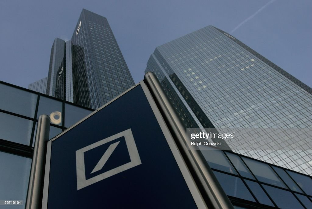 Outside View Deutsche Bank : News Photo