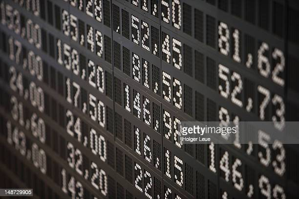 deutsche borse stock exchange trading floor display. - börse stock-fotos und bilder