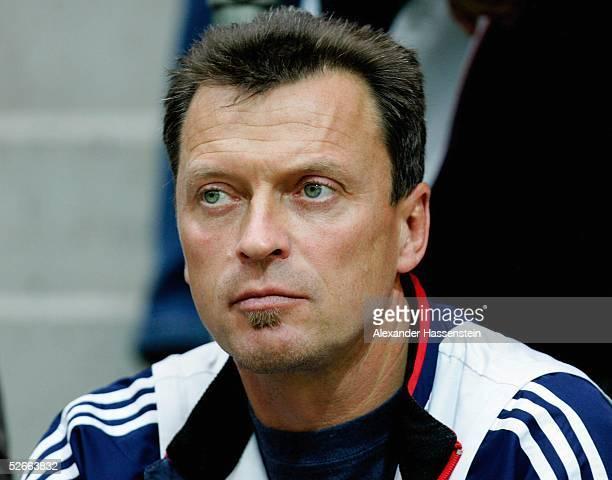 Deutsche Hallenmeisterschaft 2005 Sindelfingen 190205 Frank MOELLER neuer Trainer von Grit BREUER