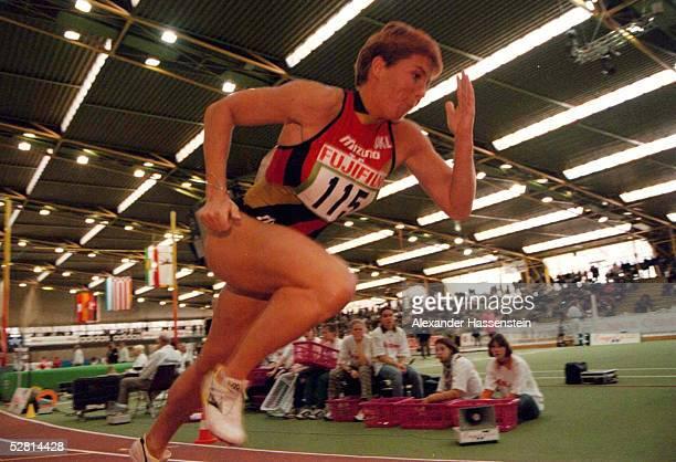 Deutsche Hallenmeisterschaften in Dortmund 22.02.97, Grit BREUER - aktion -