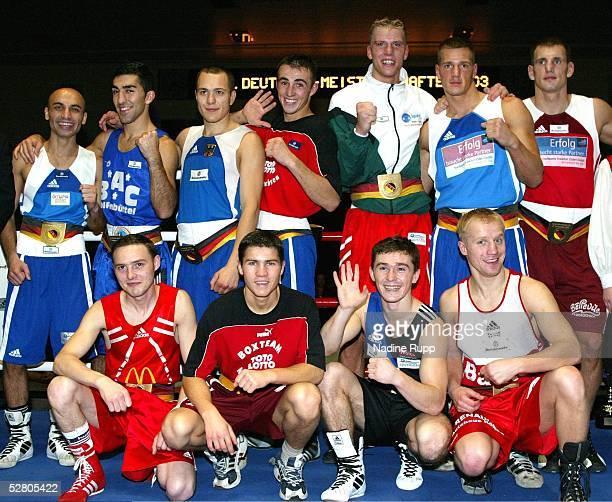 Deutsche Meisterschaften 2003 Wismar Alle elf Deutschen Meister Hinten Rustam RAHIMOV Harun SIPAHI Artem MERJASOW Eduard GUTKNECHT Tino GROSS Stefan...
