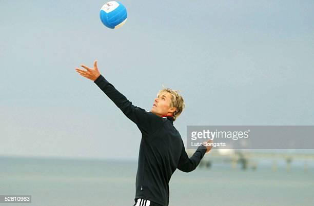 Deutsche Nationalmannschaft Trainingslager 2003, Zinnowitz/Insel Usedom; Sven HANNAWALD beim Beachvolleyball