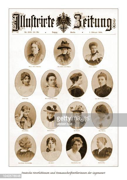 Deutsche Novelistinnen und Romanschriftstellerinnen der Gegenwart Aus der Illustrierten Zeitung vom 321898 mit Photographien von Bertha von Suttner...
