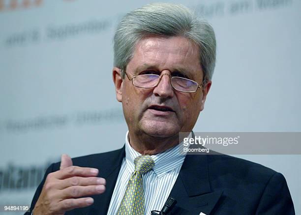 Deutsche Postbank AG Chairman of the Executive Board Dr Wulf von Schimmelmann speaks at the Handelsblatt Banken im Umbruch conference in Frankfurt...