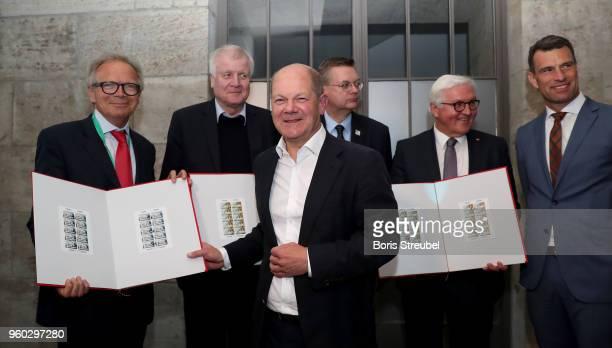 Deutsche Sporthilfe CEO Werner E Klatten federal minister of interior Horst Seehofer federal finance minister Olaf Scholz DFB president Reinhard...