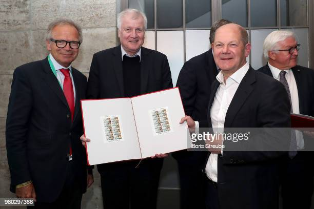 Deutsche Sporthilfe CEO Werner E Klatten federal minister of interior Horst Seehofer and federal finance minister Olaf Scholz DFB president Reinhard...