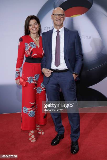 Deutsche Telekom CEO Timotheus Hoettges and his wife attend the German Sustainability Award at Maritim Hotel on December 8, 2017 in Duesseldorf,...