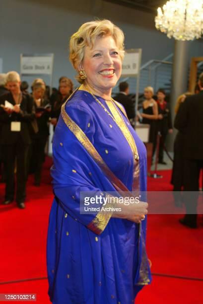 Deutscher Fernsehpreis 2002 - Auftakt zur Verleihung des 4 Deutschen Fernsehpreis. Marie-Luise Marjan.