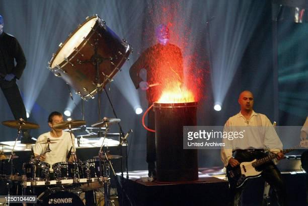 Deutscher Fernsehpreis 2004 - Verleihung des 6 Deutschen Fernsehpreises im Coloneum in Köln. Blue Man Group.
