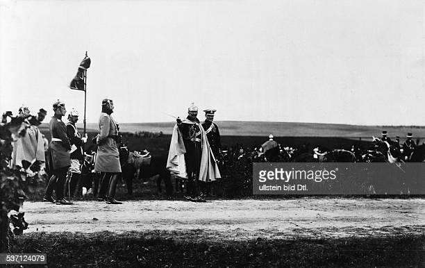 27011859 Deutscher Kaiser 1888 1918 König von Preussen Kaisermanöver in Schlesien bei Liegnitz Wilhelm II in der Uniform der Breslauer Kürassiere Nr...