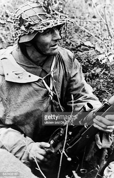 Deutscher ScharfschützeLothringen Dezember 1944