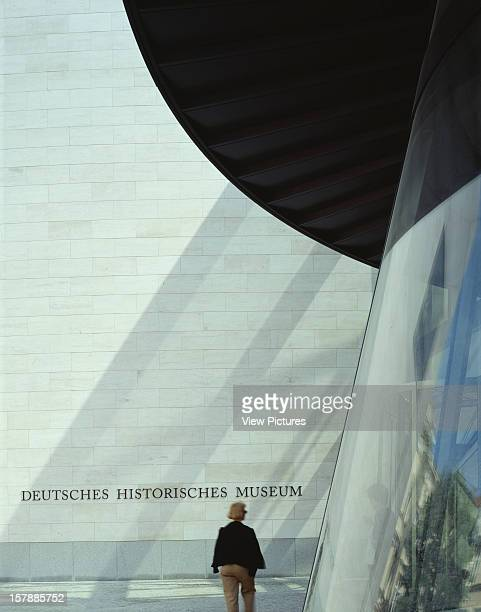 Deutsches Historisches Museum Berlin Germany Architect I M Pei Partners Deutsches Historisches Museum Detail Of Side Of Cylinder Stair And Entrance...