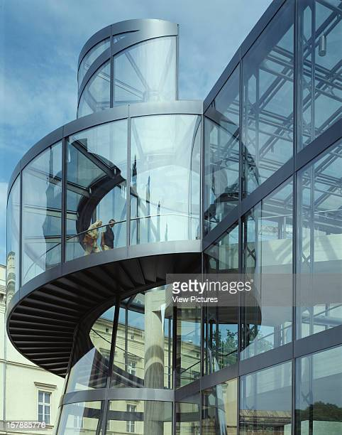 Deutsches Historisches Museum Berlin Germany Architect I M Pei Partners Deutsches Historisches Museum Detail Of Cylinder Stair And Glass Wall East...
