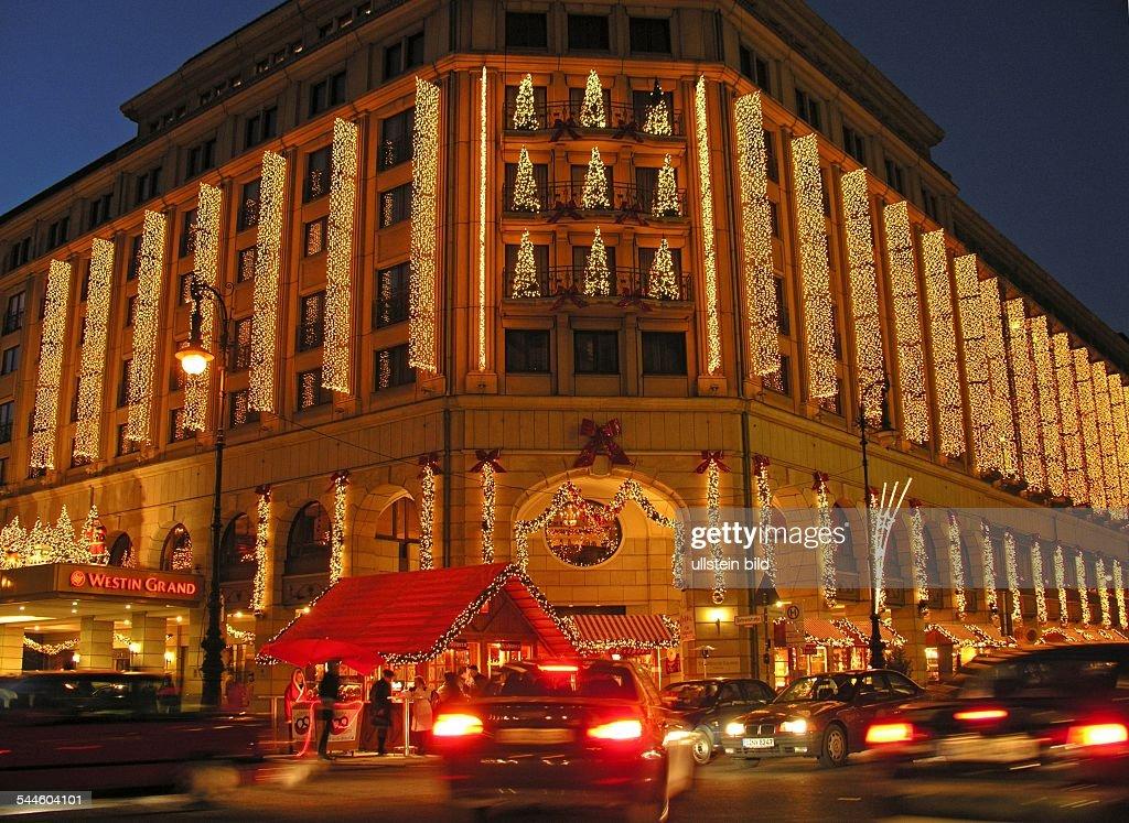 Weihnachtsbeleuchtung Berlin.Deutschland Berlin Mitte Hotel The Westin Grand Berlin Zur