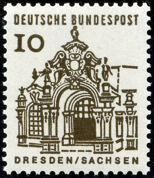 Briefmarke Deutsche Bundespost Desden Zwinger Pictures Getty Images